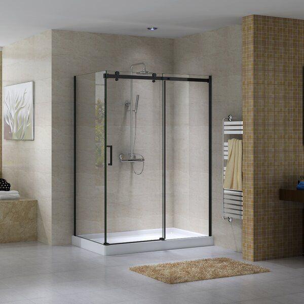 Hasper 60 X 78 75 Rectangle Sliding Shower Enclosure With Base Included In 2020 Shower Enclosure Shower Remodel Small Shower Remodel