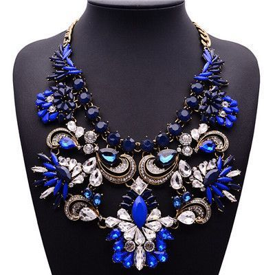 Brand Big Luxury Statement Pendant & Necklace Vintage Maxi Women Accessories Chain Collar