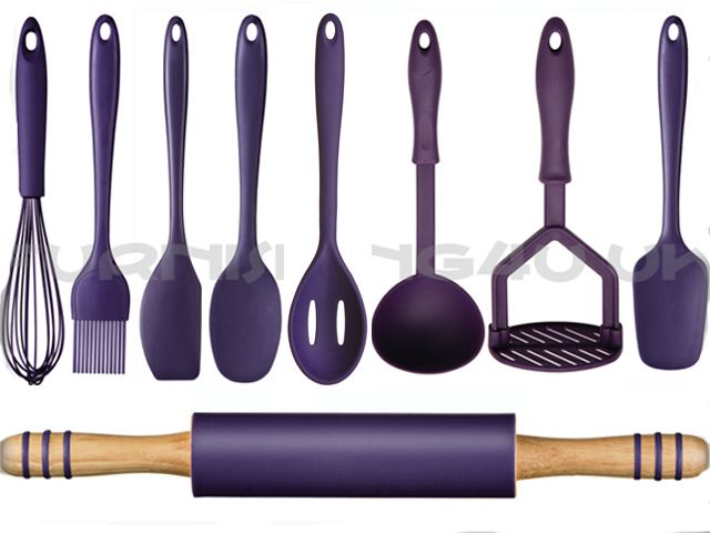 Purple Kitchen Sets | Brand New 9 Piece Kitchen Utensils Cutlery Set Turner Masher Whisk ...