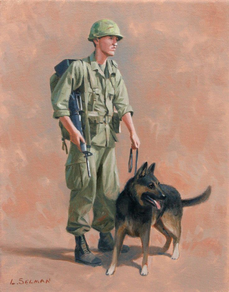 Vietnam Dog Handler by Larry Selma, original available at
