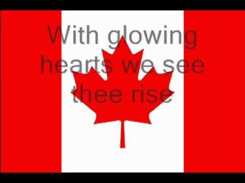 ▶ Canadian National Anthem lyrics Oh Canada - YouTube
