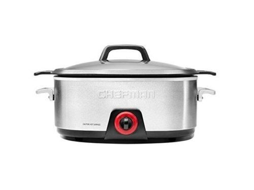 Chefman Rj15-6-dc 6 Qt. 6 Qt Slow Cooker W/die Cast Insert Brown Bake and Slow C Trust Quality Number ONE ** Want additional info? Click on the image. #SlowCookers