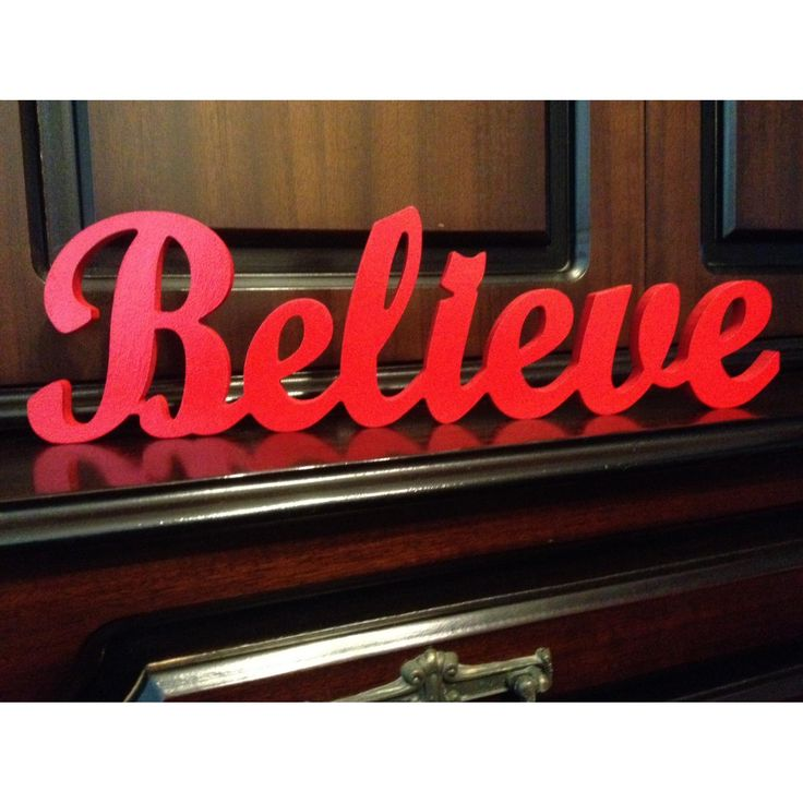 $25 Believe Christmas Decoration by NamedInStyle on Handmade Australia
