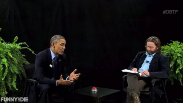 Click on the image to watch this funny skit!  Between Two Ferns with Zach Galifianakis:  President Barack Obama #OBTF #funnyordie
