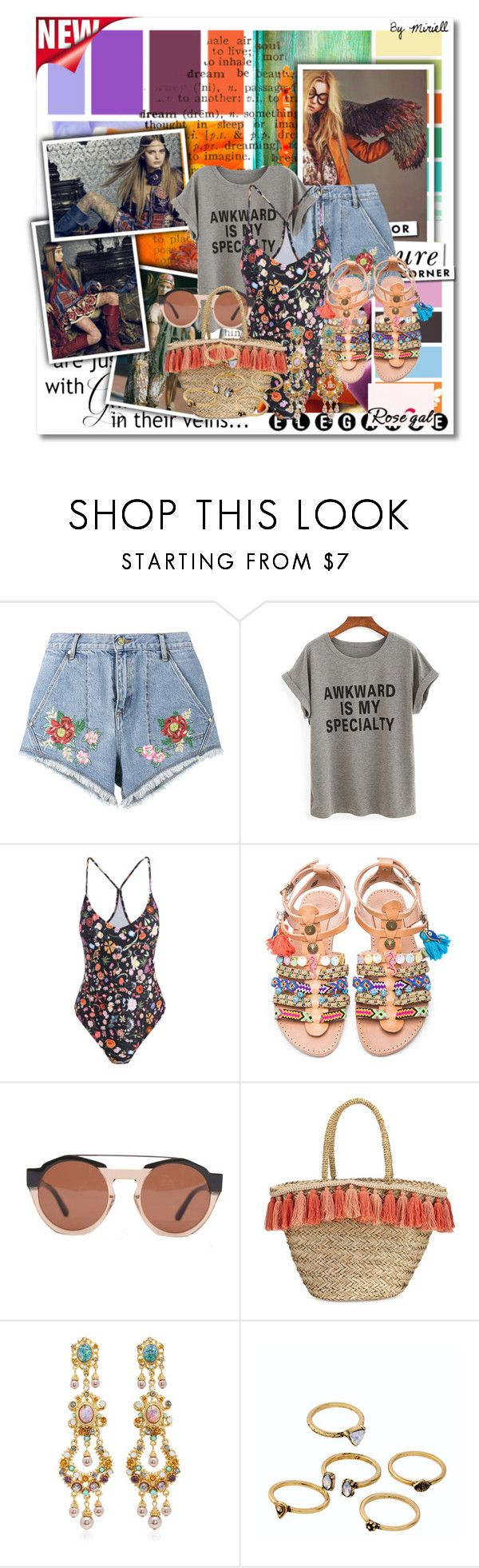 """""""Untitled #481"""" by anonymousleaf ❤ liked on Polyvore featuring House of Holland, Elina Linardaki, Marni, Flora Bella, Ben-Amun, WithChic, WALL and Kate Spade"""