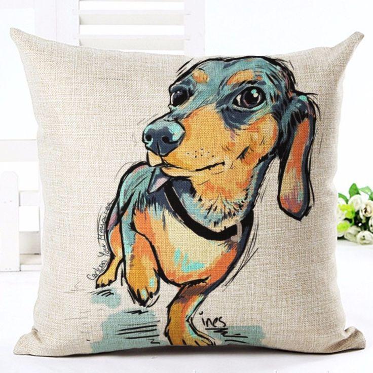 Cartoon Dog Pillow Cover