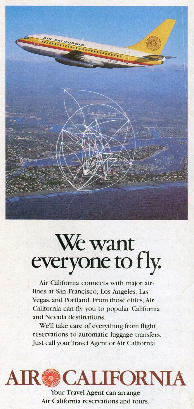 1980 September 1 Air California / Air Cal Timetables
