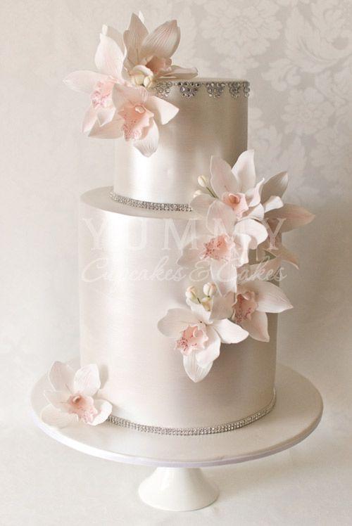 Metallic Wedding Cake Inspiration - Photo Credit: Yummy Cupcakes