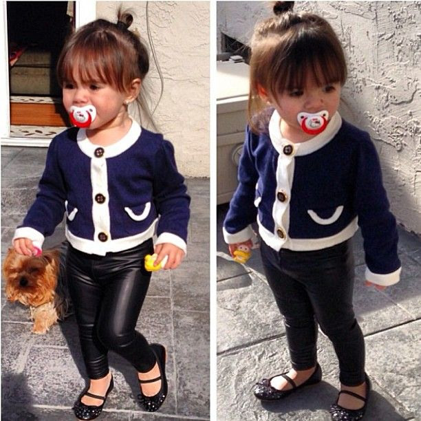 OMG leather leggings for baby!! If ever I am blessed with a little girl... Consider these bought!