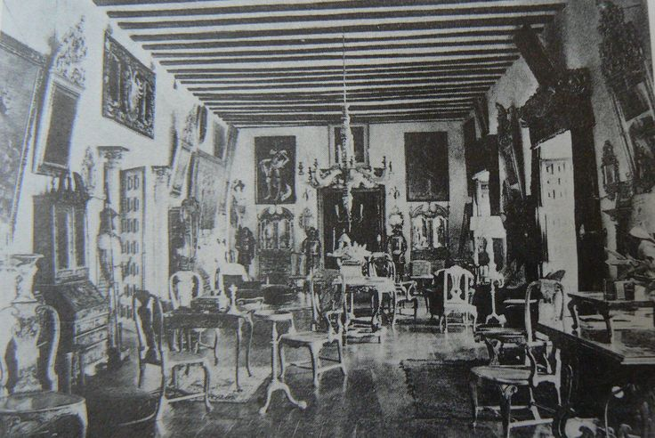 A late 19th century photograph of the salon at Lazcano (reproduced in Gilbert, Furniture at Temple Newsam House and Lotherton Hall)
