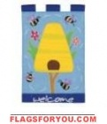 Welcome Beehive House Flag - 3 left
