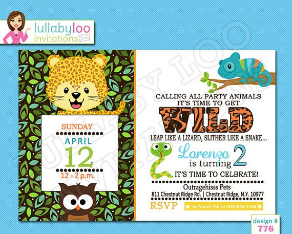 29 best zoo birthday party images on pinterest | zoo birthday, Birthday invitations