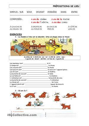 les prépositions- exercices
