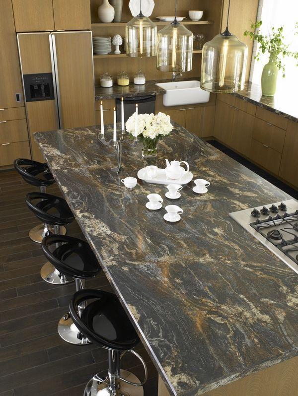 Leathered Granite Countertop Pros Contemporary Kitchen Countertops Ideas