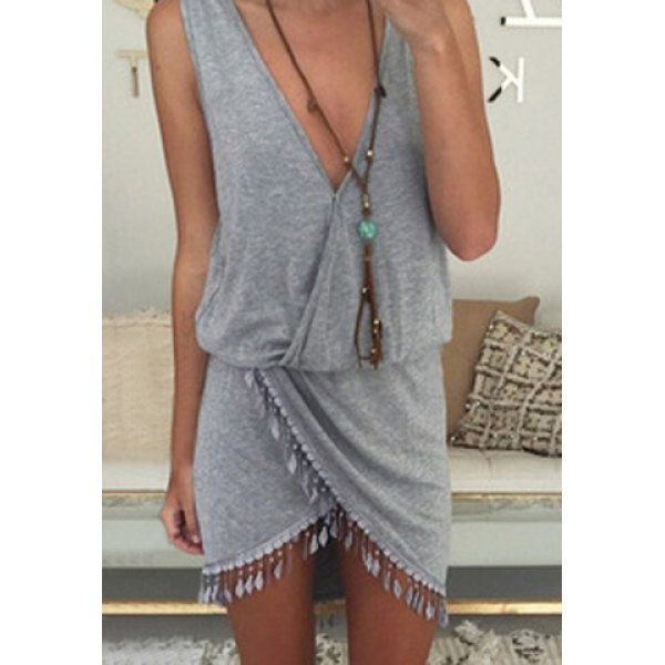 Gray Tassel Mini Super cool and very cute. Ultra light weight chiffon & tassels hand wash, hang dry or dry clean
