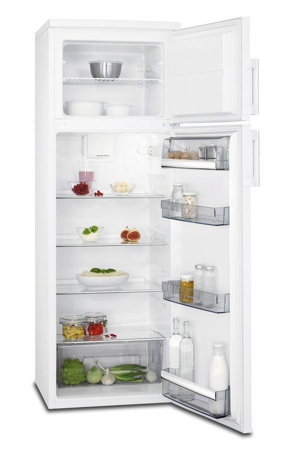 Soldes Réfrigérateur Darty pas cher Refrigerateur congelateur en haut Aeg RDB52711DW prix Soldes Darty 389.00 € TTC au lieu de 559 €.