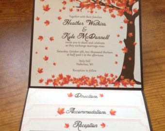 Falling Leaves   Wedding Invitation Digital by EventswithGrace