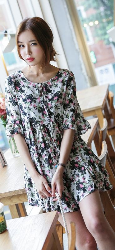 Summer dress korean style bed