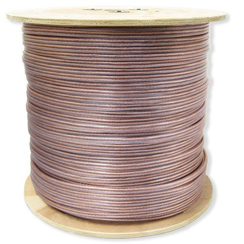 "GLS Audio Premium 16 Gauge 1000 Feet Speaker Wire - True 16AWG Speaker Cable 1000ft Clear Jacket - High Quality 1000' Spool Roll 16G 12/2 Bulk by GLS Audio. $109.99. GLS Audio speaker wire is manufactured with the highest grade materials in the industry. The copper wire is rated in AWG spec which stands for ""American Wire Gauge"". The AWG rating was developed by the USA as a result of some wire manufacturers stating their wire was a certain spec when it really w..."