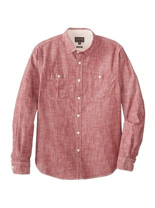 51% OFF J.A.C.H.S. Men's Slub Chambray Woven (Sun Dried Tomato)