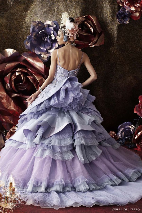 .: Wedding Dressses, Wedding Trends, Bridal Collection, Colors Wedding Dresses, Wedding Ideas, Purple Wedding Dresses, Star Of, Libero, Haute Couture