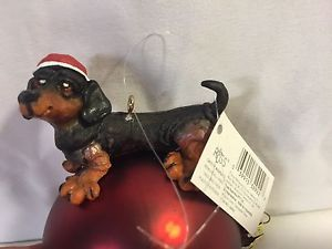 dachshund Ornament By Doug Harris Wags To Whiskers NWT  Christmas Decor
