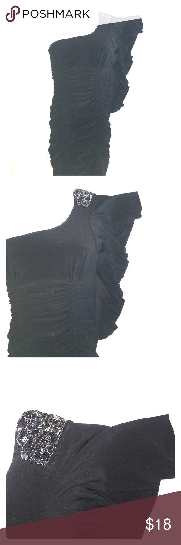 Little Black Dress One shoulder, embellished little black dress. Perfect for date night or homecoming! Taboo Dresses One Shoulder