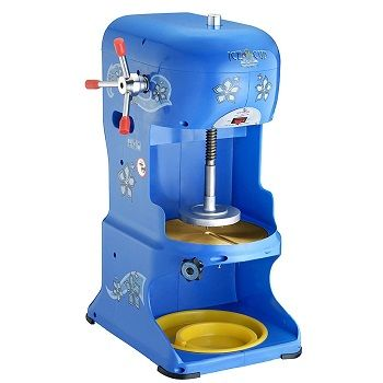 """Great Northern Shaved Ice Machine - This """"Ice Cub"""" slowly shaves the ice off the block and produces the softest / fluffiest ice in the industry. Stainless steel construction and shaves 6 lbs. per minute of ice."""