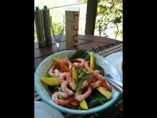 Fresh prawns, Bowen mangoes and Moet throw downs. A simple Queensland summer brunch.