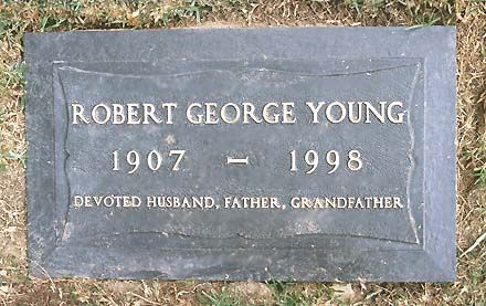 """THE GRAVE OF ROBERT YOUNG  (actor, star of """"Father Knows Best"""")  at Forest Lawn in Glendale, California"""