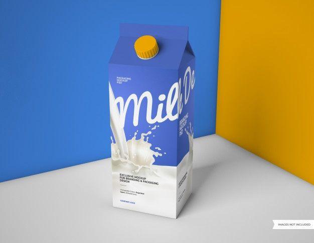 Download Milk Packaging Mockup In 2020 Milk Packaging Packaging Mockup Bottle Mockup