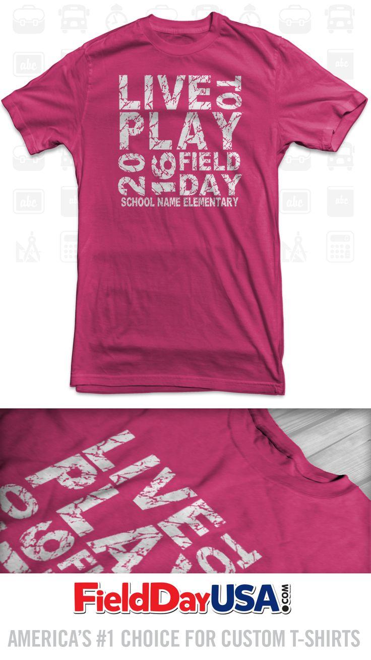 T shirt design ideas for schools - Budget Event Field Day T Shirt Design Be16 05