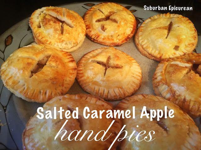 Salted Caramel Apple Hand Pies - Suburban Epicurean #applepie #saltedcaramel #falldessert #Apple
