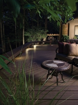 Lighting helps define outdoor living spaces at night. Kichler Lighting http://www.poolspaoutdoor.com/blog/entryid/55/5-areas-to-improve-with-outdoor-lighting.aspx