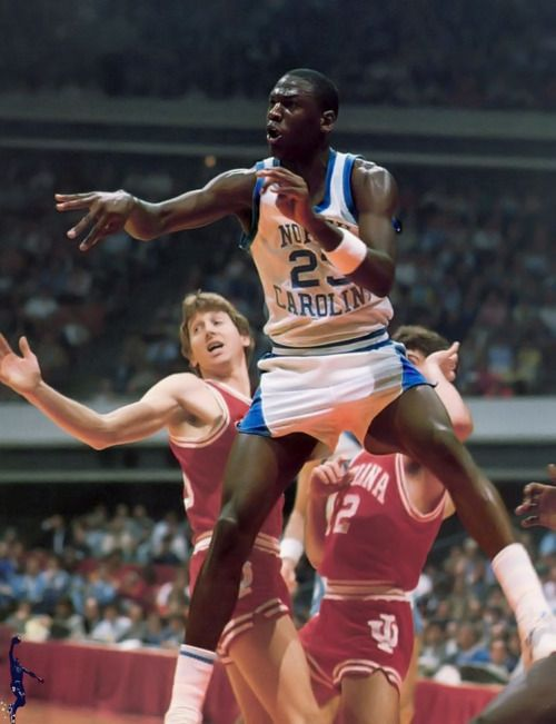 Michael Jordan with good ole Steve Alford in the background #12