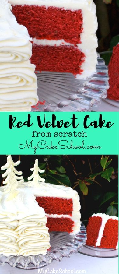 AMAZING Red Velvet Cake from Scratch! So moist, flavorful, and with just the right amount of cocoa flavor.