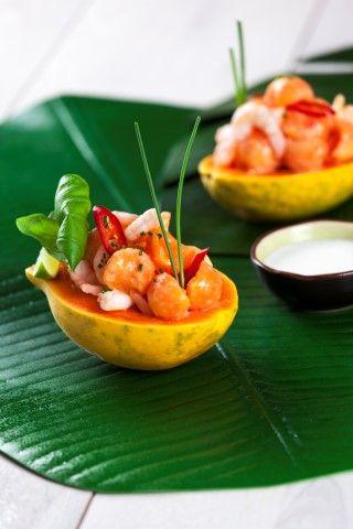 Maionese de papaia e camarão  Nutrição & Bem-Estar  Saúde à Mesa nº 100 - Julho 2014 www.teleculinaria.pt