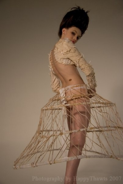 Wicker cage skirt