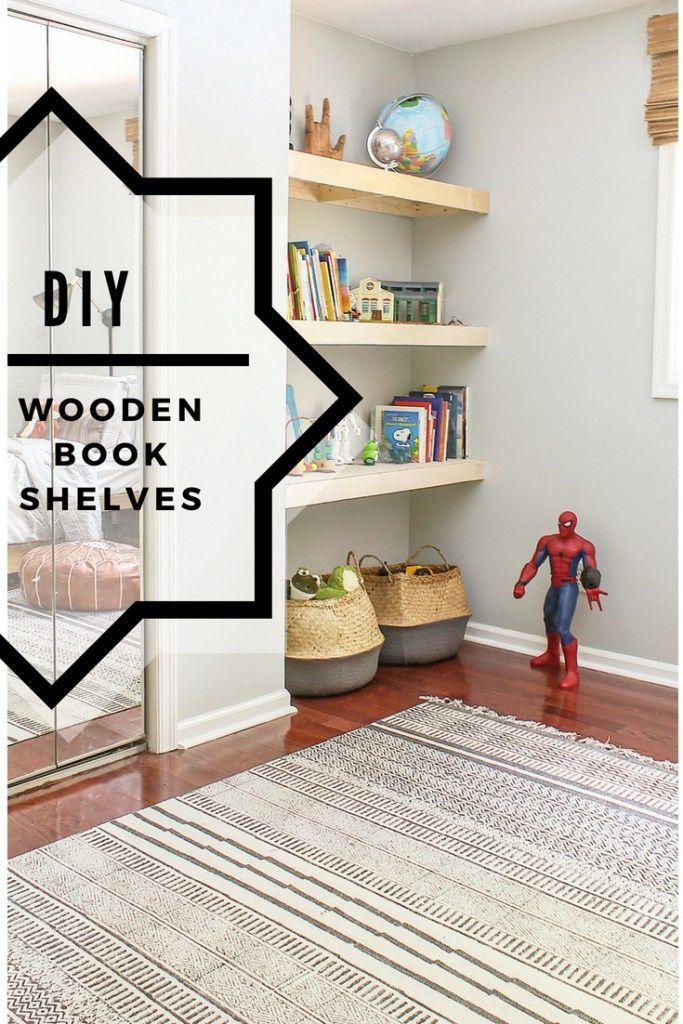 Diy Natural Wood Alcove Shelving Easy Floating Shelves Kids