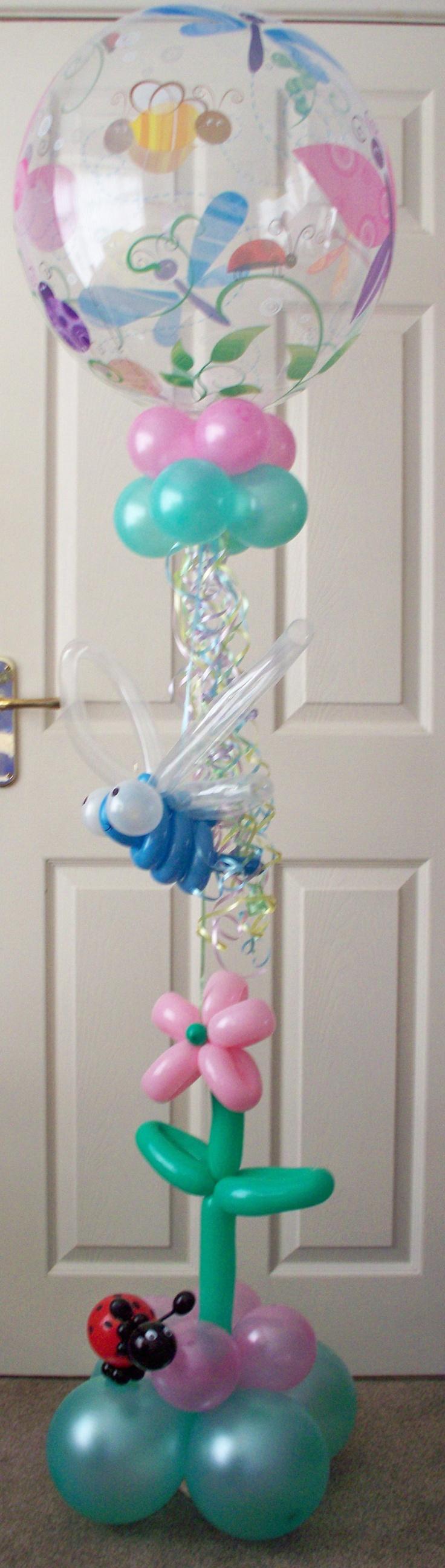 Beautiful bugs and butterflies balloon display