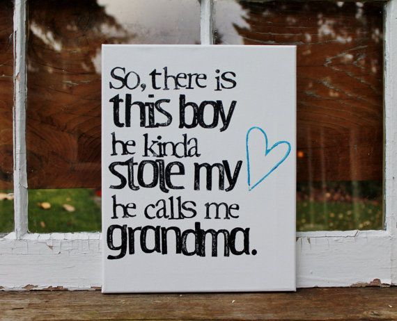 """Such a sweet gift from Grandson(s).  Customize the name """"Grandma"""" for any other name she might be called...""""Nana"""", """"Grams"""", etc.  11x14 """"So there are these boys...they call me Grandma""""  by Houseof3,"""