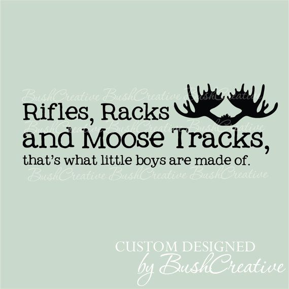 Wall Decals Nursery Rifles Racks and Moose Tracks by bushcreative, $20.00