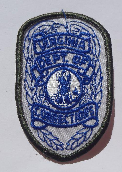 police department patches in virginia | Embroidered Patch Virginia Department of Corrections Police VA