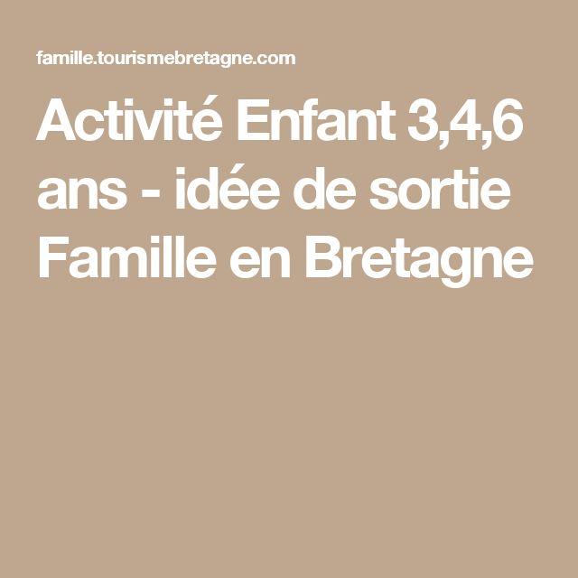 Activité Enfant 3,4,6 ans - idée de sortie Famille en Bretagne