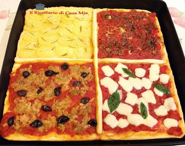 Pizza in Teglia con Ingredienti Diversi