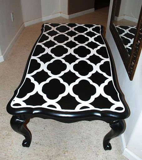 Best 20 stencil table ideas on pinterest stencil table - Table a rabat mural ...