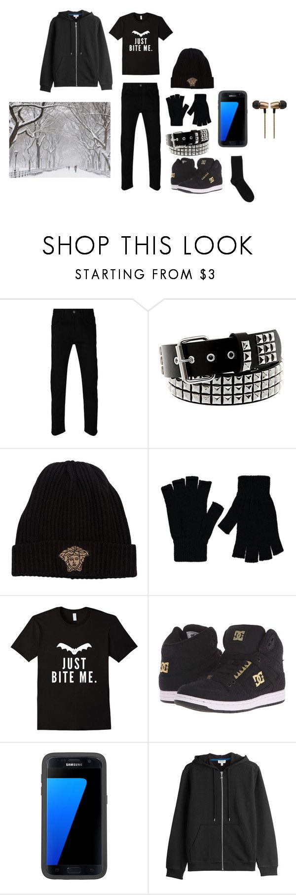 """Emo Vampire Outfit"" by wickedghostman94 on Polyvore featuring Gucci, Versace, George, DC Shoes, OtterBox, Kenzo, Cynthia Rowley, men's fashion and menswear"