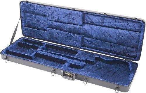 Schecter - Hard Shell Case for Most Schecter Bass Guitars - Black/Blue
