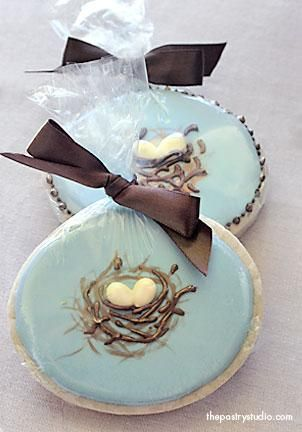 Birds nest cookies - so elegant!