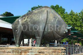 Skulptur im Westfalenpark in Dortmund, Nordrhein-Westfalen (D-Dortmund, Ruhrgebiet, Westfalen, Nordrhein-Westfalen, NRW, Westfalenpark, Landschaftspark,...)